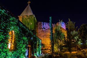 Картинка Крепость Белград Сербия Ночь