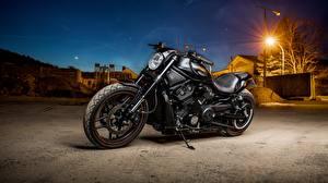 Картинка Harley-Davidson Черный Мотоциклы