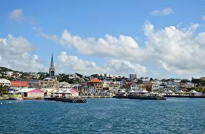 Фотография Здания Причалы Caribbean sea, Martinique, Fort-De-France Города