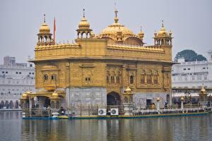 Фотографии Индия Храмы Золотой Amritsar, Golden temple, Punjab state