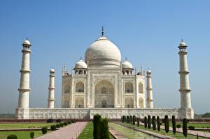 Обои Индия Храмы Тадж-Махал Agra