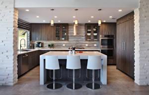 Обои Интерьер Дизайн Кухня Стол Стулья