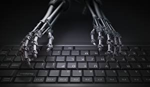 Картинки Клавиатура Руки Робот
