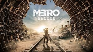 Картинки Metro Exodus Рельсах Туннель Игры