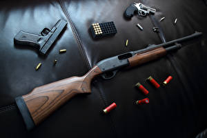 Фотографии Пистолеты Ружьё Пули Револьвер Армия