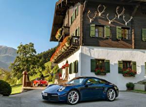 Обои для рабочего стола Porsche Синий Металлик 1964-2019 911 автомобиль