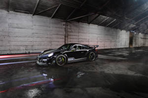 Фотография Порше Черный 2013-17 TechArt 911 Turbo GT Street R машины