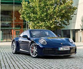 Фотографии Porsche Синий Металлик 2019 911 Carrera S Worldwide машины