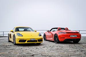 Картинка Порше 2 Металлик Porsche 718 Авто