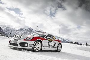 Фото Porsche Тюнинг Снег Cayman GT4 rally Авто