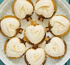 Обои День всех влюблённых Пирожное Дизайн Сердечко Еда