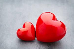 Фото День всех влюблённых Серый фон Сердечко Вдвоем Красный