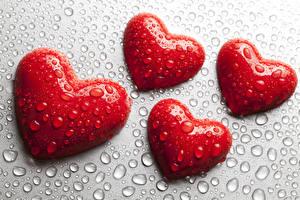 Картинка День всех влюблённых Сердечко Капли