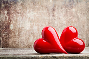 Фотография День святого Валентина Сердце Двое Красная