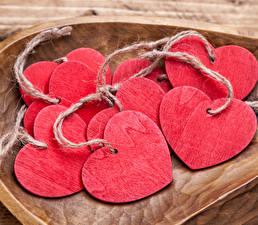Фотографии День всех влюблённых Сердечко Деревянный Розовый