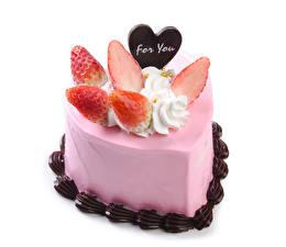 Фото День всех влюблённых Сладости Торты Клубника Шоколад Английский Сердечко Пища