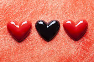 Картинка День святого Валентина Трое 3 Сердце
