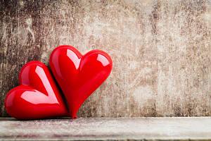 Картинка День святого Валентина Вдвоем Сердце Красные