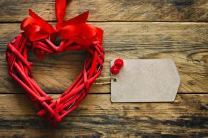 Фотография День святого Валентина Доски Шаблон поздравительной открытки Сердечко Бантик