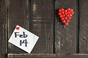 Обои День святого Валентина Доски Стене Инглийские Сердце