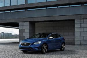 Картинка Volvo Синих 2016 V40 R-Design машины