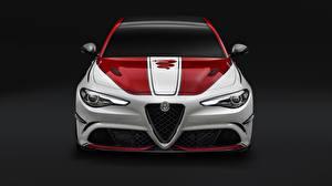 Обои Альфа ромео Спереди Quadrifoglio Giulia 2019 Авто