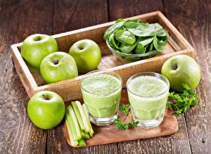 Картинка Яблоки Овощи Смузи Доски Стакан