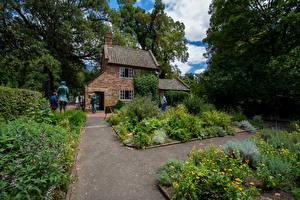 Фотография Австралия Мельбурн Здания Парк Кусты Captain Cook Garden Природа