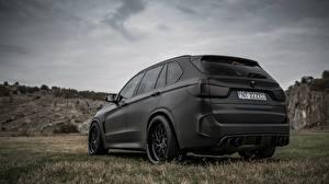 Картинка БМВ Черный Вид сзади X5M Z Performance автомобиль