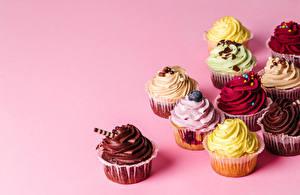 Картинки Пирожное Цветной фон Дизайн Разноцветные
