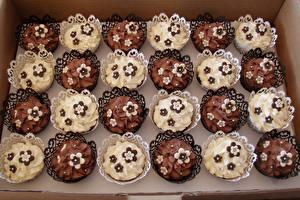 Картинки Пирожное Много Шоколад Дизайн Еда