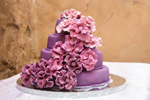 Картинка Торты Дизайн Фиолетовый Пища