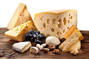 Картинки Сыры Орехи Виноград Продукты питания