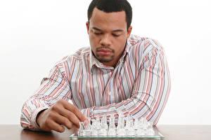 Обои Шахматы Мужчина Пальцы Негр