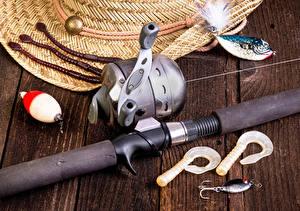 Фотография Ловля рыбы Удочка Доски Спорт