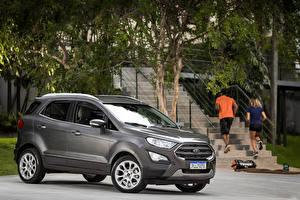 Обои Форд Серый 2018-19 EcoSport Titanium Latam Авто