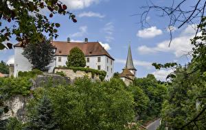 Фотографии Германия Замки Schloss Freienfels город