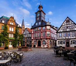 Фото Германия Дома Кафе Heppenheim город