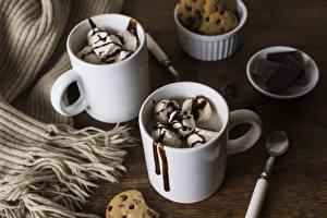 Обои Мороженое Шоколад Кружки Еда