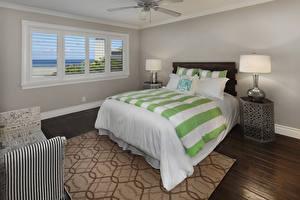 Картинки Интерьер Дизайн Спальня Кровать Лампы