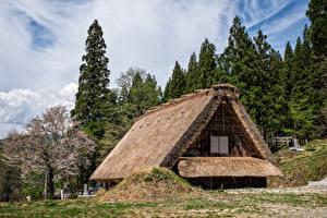 Фотография Япония Здания Деревня Shirakawa
