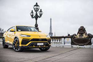 Фотография Lamborghini Желтых Металлик 2018 Urus авто