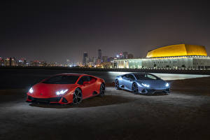 Фотография Lamborghini 2 Ночные 2019 Huracan EVO