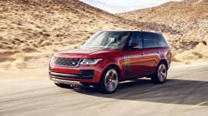Картинка Land Rover Красный Движение 2018 Dynamic Авто