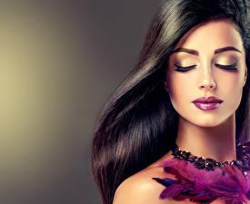Картинка Мейкап Лицо Волосы Красивые Девушки