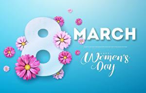 Картинка Международный женский день Английский Цветы