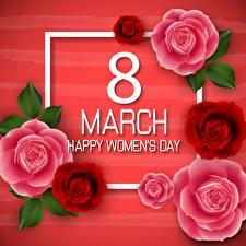 Картинки Международный женский день Английский Цветы