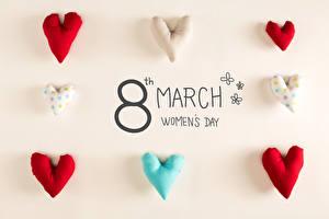 Картинки 8 марта Английский Сердечко