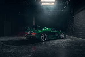 Фотографии McLaren Зеленый 2018 Senna MSO Fux Green Машины