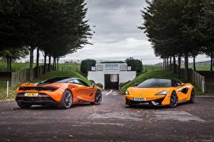 Фотография Макларен 2 Оранжевый Металлик Авто